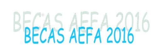BECAS AEFA 2016