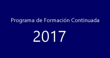 PROGRAMA DE FORMACIÓN CONTINUADA AEFA 2017.
