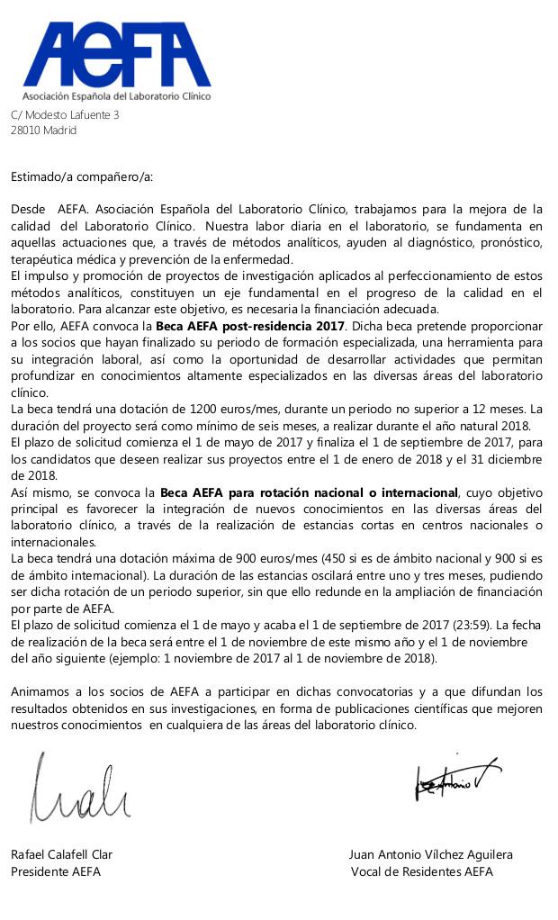 carta informativa becas 2017 .1