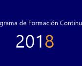 PROGRAMA DE FORMACIÓN CONTINUADA AEFA 2018.