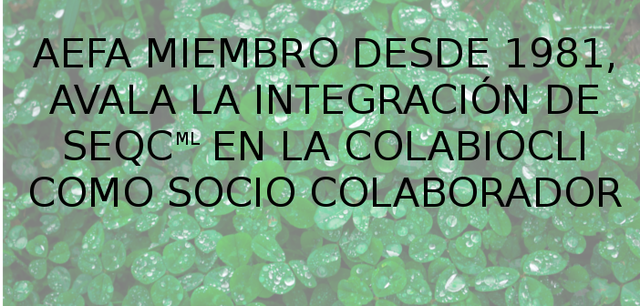 AEFA AVALA LA ENTRADA DE SEQC-ML EN COLABIOCLI COMO COLABORADOR.