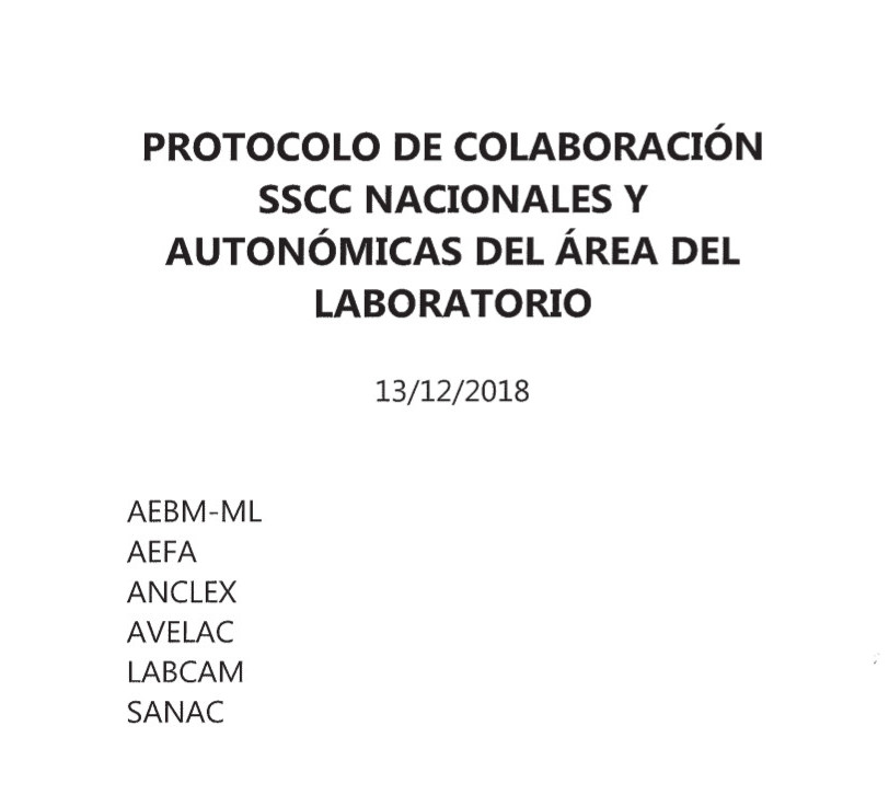PROTOCOLO DE COLABORACION SSCC NACIONALES Y AUTONOMICAS DEL AREA DE LABORARORIO CLINICO_1.1