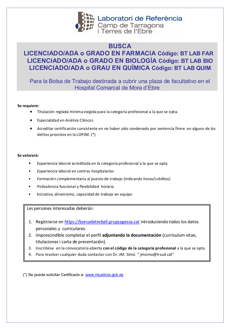 Convocatòria LRCTiTE Facultatius Mora Castellà_1