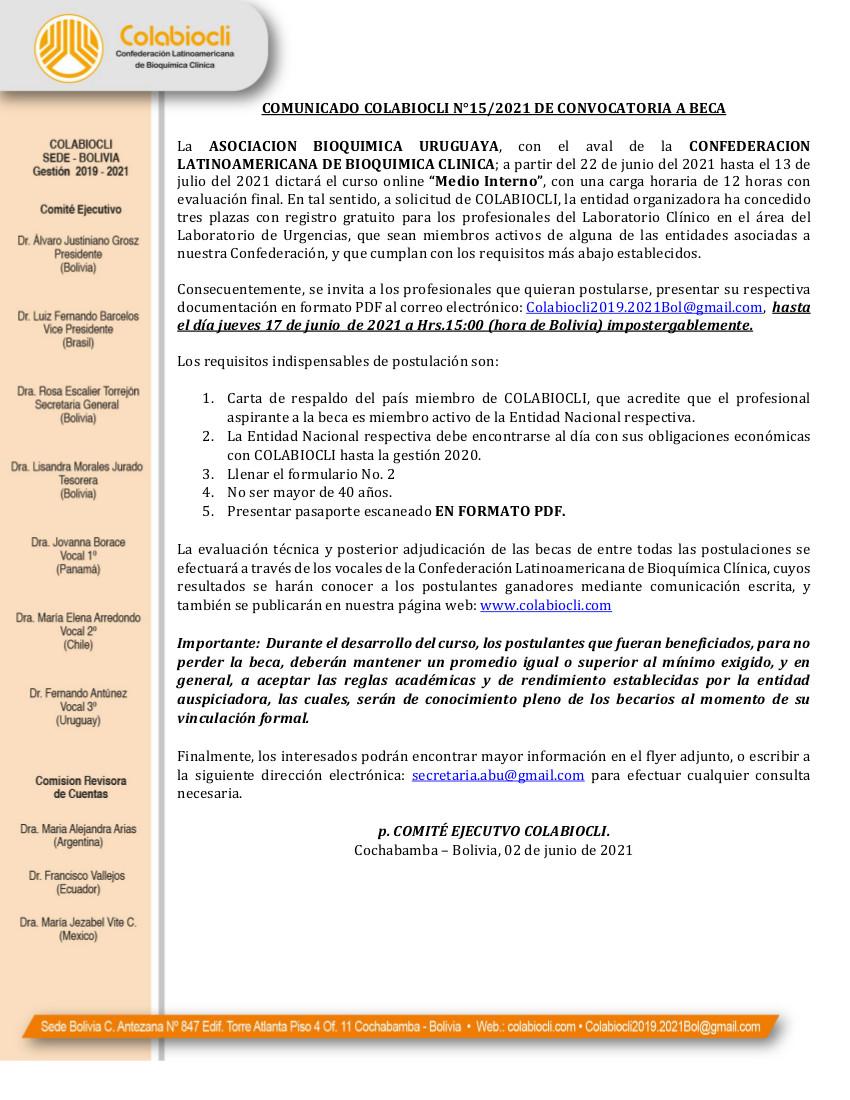 Comunicado No.15-2021 de COLABIOCLI_1