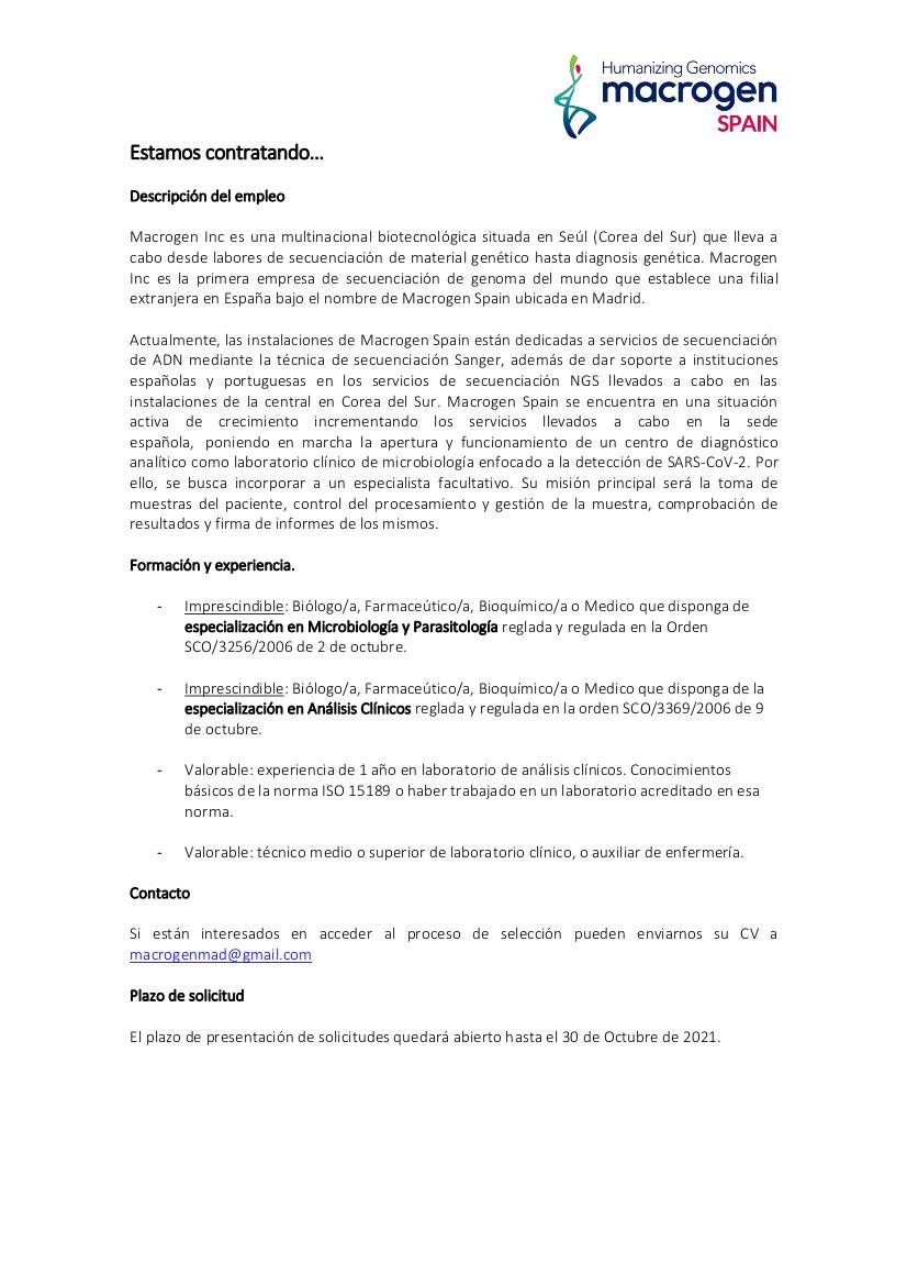 Macrogen Spain_Busqueda de personal_